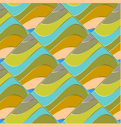 wave colorful abstract seamless pattern vector image