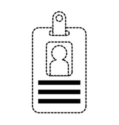 Worker badge isolated icon vector