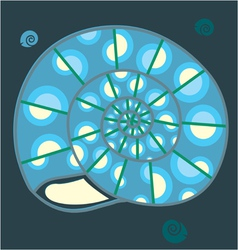 blue shell vector image vector image