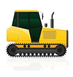 Caterpillar tractor 01 vector