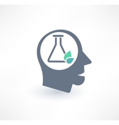 Chemist icon The concept of scientific workers vector image vector image