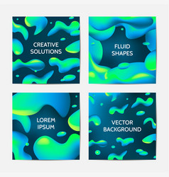 fluid colors backgrounds set vector image