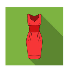 red long evening dress for a hike in the theater vector image