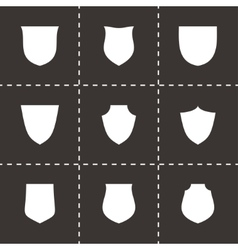shield icon set vector image