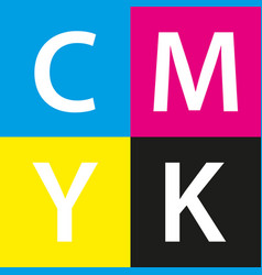 Simple cmyk color sample background vector
