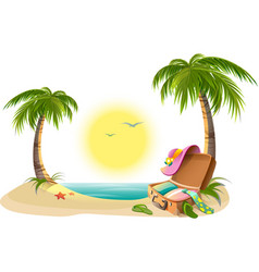 Beach holidays on summer vacations Tropical sun vector image vector image