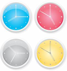 clocks design elements vector image