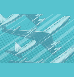 modern aircraft in the sky travel background vector image vector image