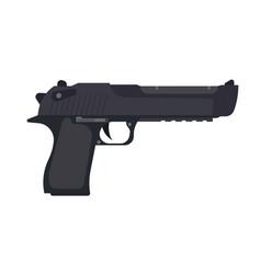pistol gun handgun weapon icon vintage firearm vector image vector image