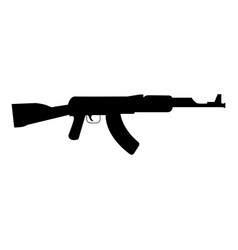 assault rifle black color icon vector image vector image