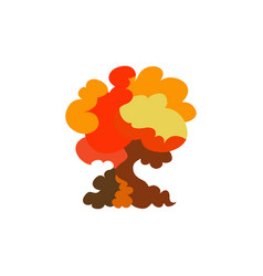 cartoon explosion effect set explode flash vector image