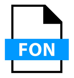 file name extension fon type vector image vector image