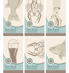 marine cards vector image vector image