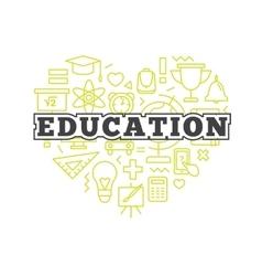 school design concept Line style education vector image