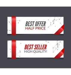 set of promotional market sale banners vector image