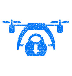 drone unloading grunge icon vector image vector image