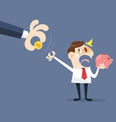 Hand grabbing money vector image vector image