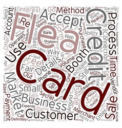 How To Process Credit Cards At A Flea Market text vector image vector image