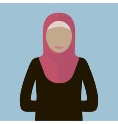 Muslim Woman Icon vector image
