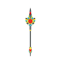 Scepter crown king royal isolated cartoon power vector