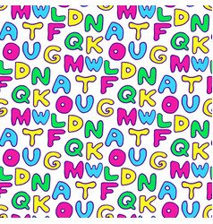 seamless pattern with colorful letters vector image