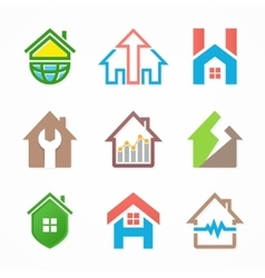 Set of house logo design template House logo vector image vector image