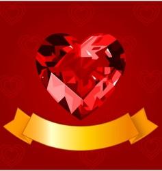 valentine design vector image vector image