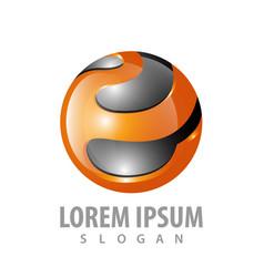 3d sphere logo concept design symbol graphic vector image