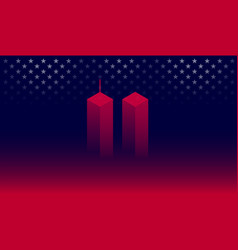 911 attack remembrance memorial day banner vector image