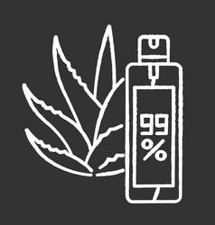 Aerosol chalk white icon on black background aloe vector