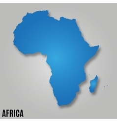 Africa continent map vector image