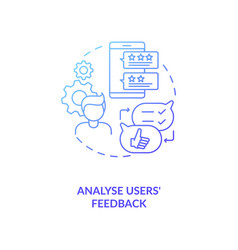 Analyse users feedback concept icon vector