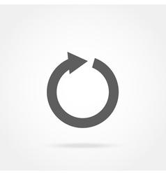 arrow in a circle icon vector image