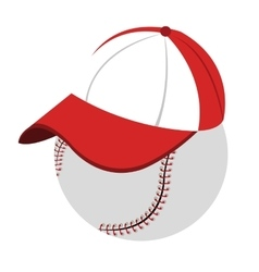 Baseball with cap side view graphic vector