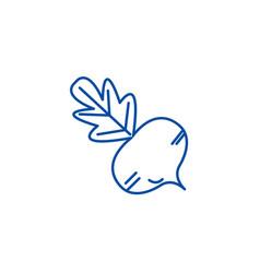 beet line icon concept beet flat symbol vector image