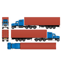 big truck container template vector image