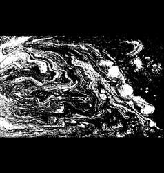 Black and white liquid texture hand drawn vector