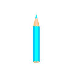 Blue wooden pencil vector