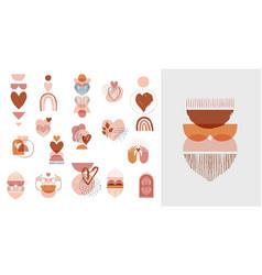 bohemian boho valentines day hand vector image