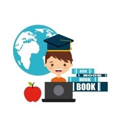 book school design vector image