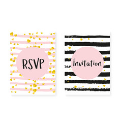 bridal shower card with dots and sequins wedding vector image