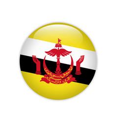 Brunei flag on button vector
