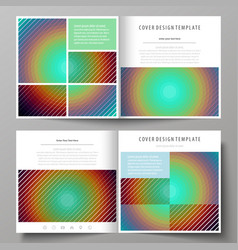 business templates for square bi fold brochure vector image