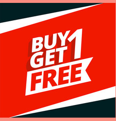 Buy one get one free sale background design vector