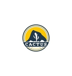 Cactus logo isolated on white background vector