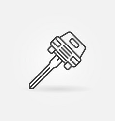 car key concept icon vector image