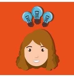 Child student idea icon vector