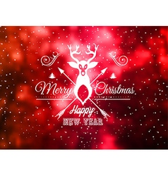 Christmas Vintage Blurred Background with vector image