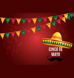 cinco de mayo holiday background vector image