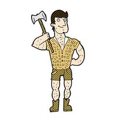 comic cartoon lumberjack vector image